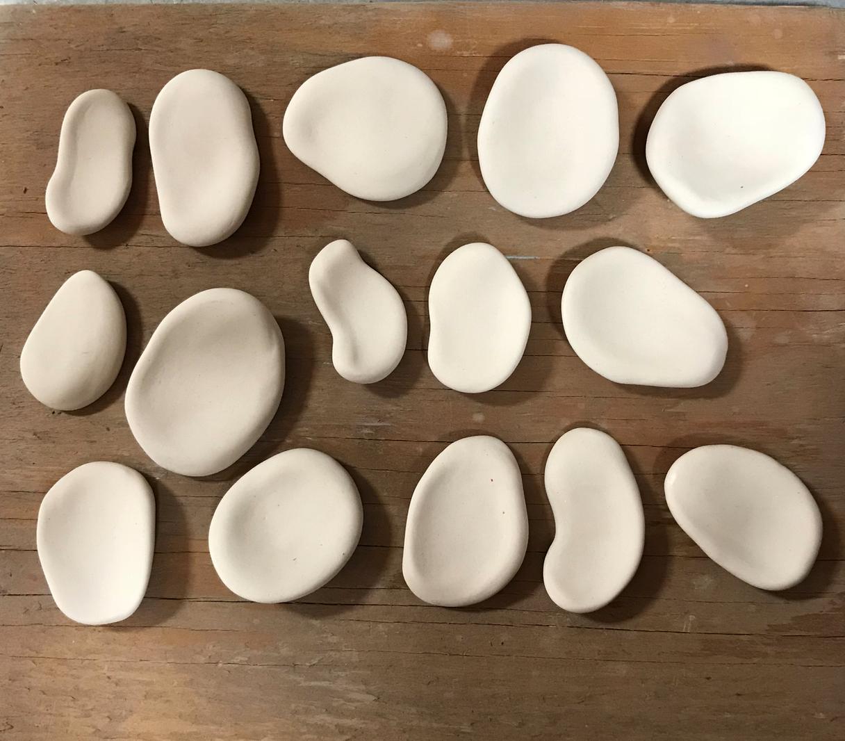 clay worry stones